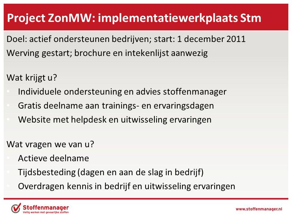 Project ZonMW: implementatiewerkplaats Stm