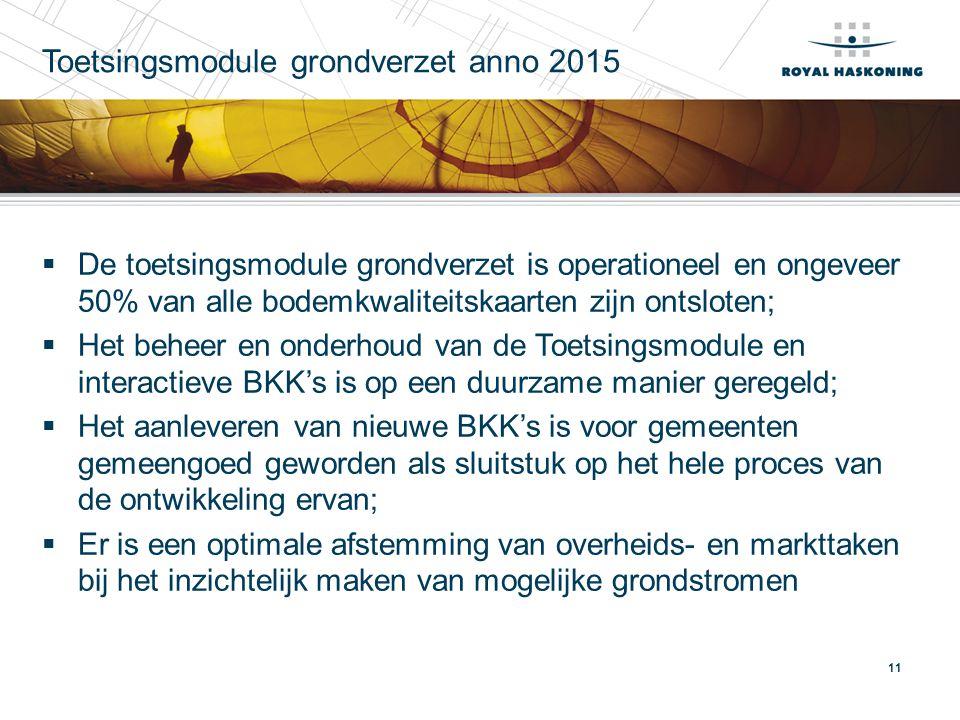 Toetsingsmodule grondverzet anno 2015
