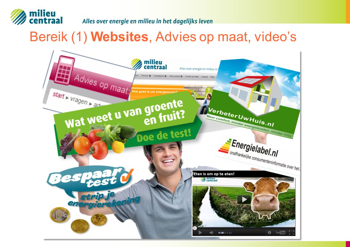 Bereik (1) Websites, Advies op maat, video's