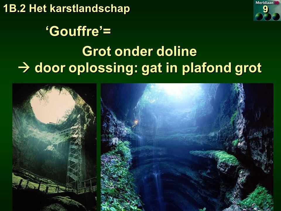  door oplossing: gat in plafond grot