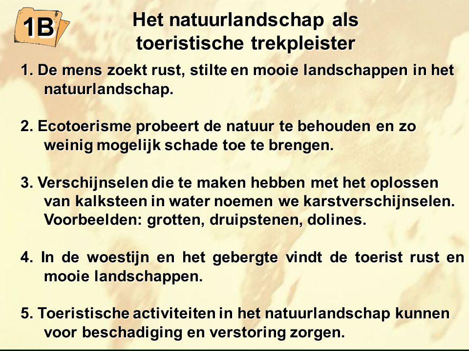 Het natuurlandschap als toeristische trekpleister