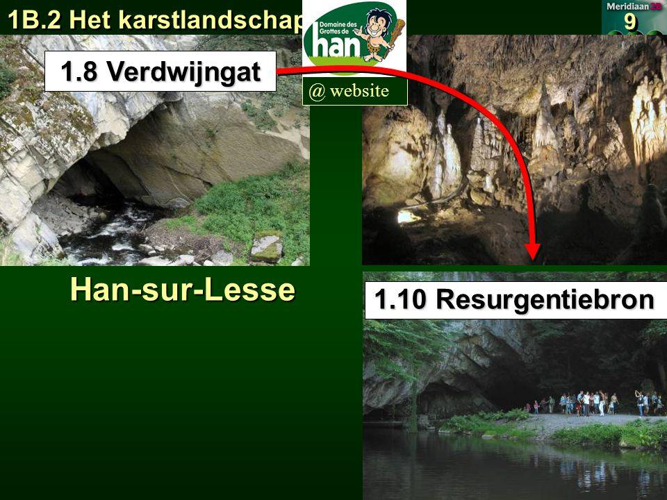 Han-sur-Lesse 1.8 Verdwijngat 1.10 Resurgentiebron