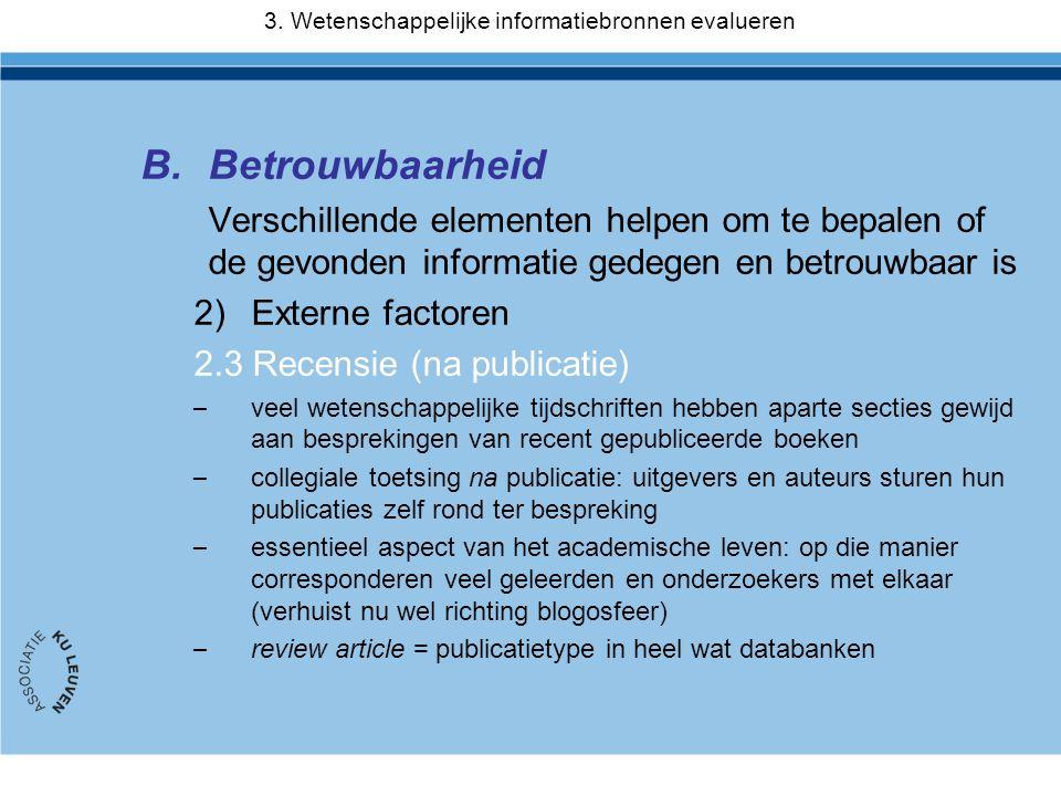 3. Wetenschappelijke informatiebronnen evalueren