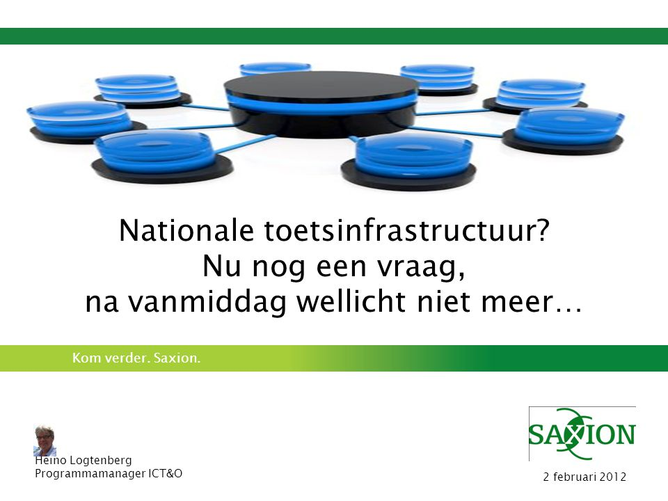Nationale toetsinfrastructuur Nu nog een vraag,