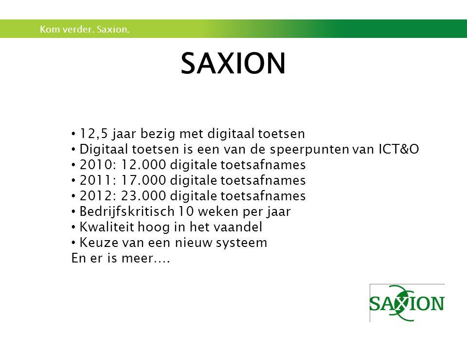 SAXION 12,5 jaar bezig met digitaal toetsen