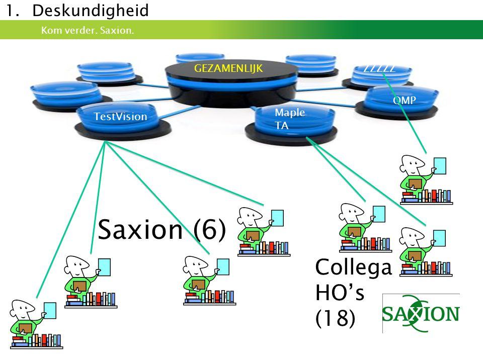 Saxion (6) Collega HO's (18) Deskundigheid GEZAMENLIJK ZZZZZ QMP