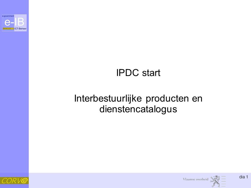 IPDC start Interbestuurlijke producten en dienstencatalogus
