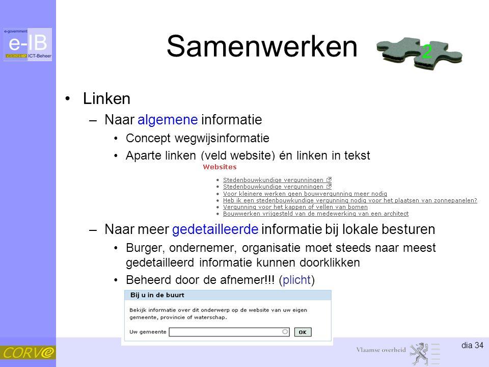 Samenwerken 2 Linken Naar algemene informatie