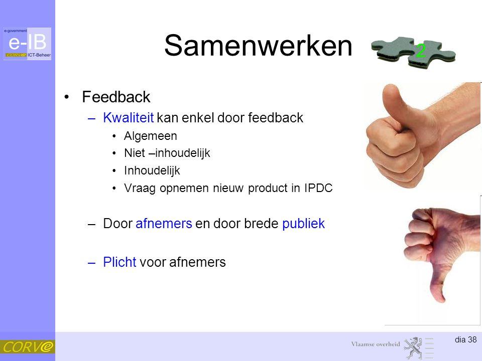 Samenwerken 2 2 Feedback Kwaliteit kan enkel door feedback