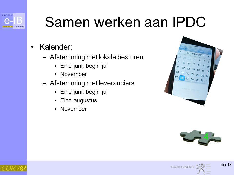 Samen werken aan IPDC 4 Kalender: Afstemming met lokale besturen