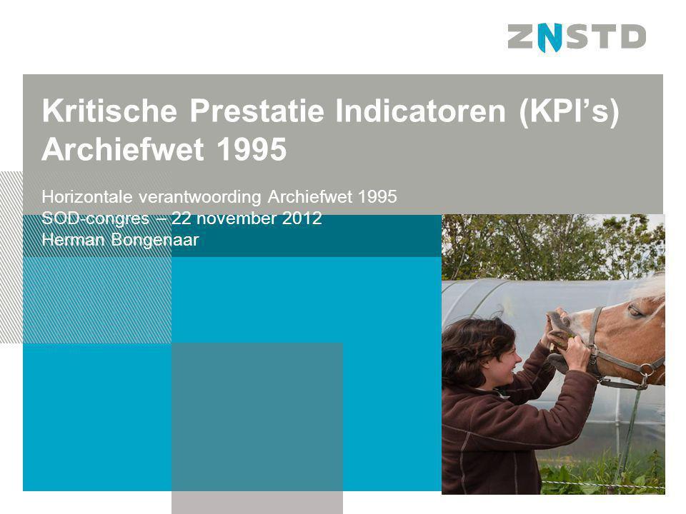 Kritische Prestatie Indicatoren (KPI's) Archiefwet 1995