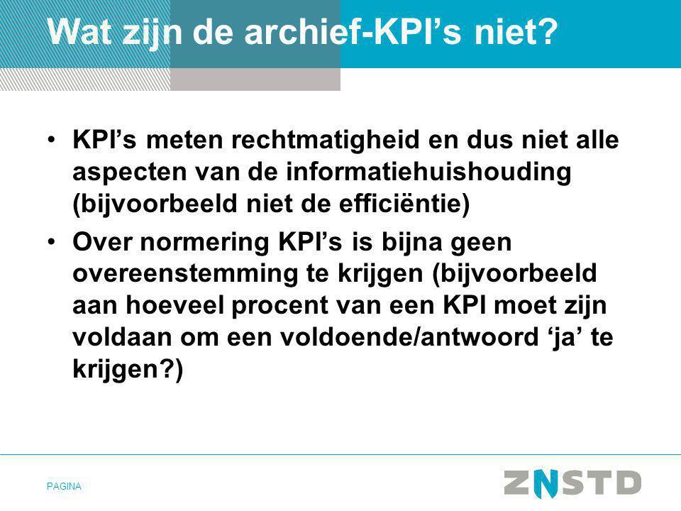 Wat zijn de archief-KPI's niet