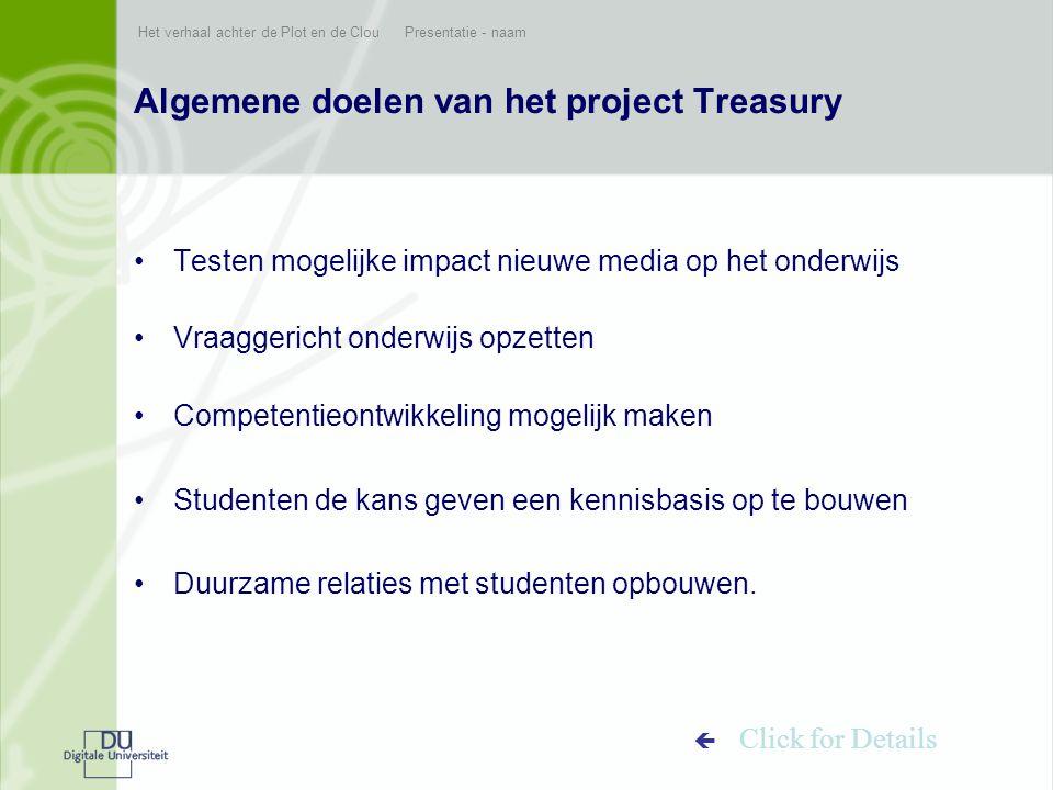 Algemene doelen van het project Treasury