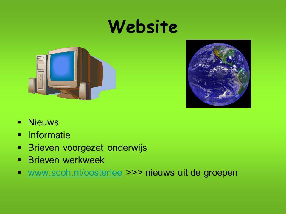 Website Nieuws Informatie Brieven voorgezet onderwijs Brieven werkweek