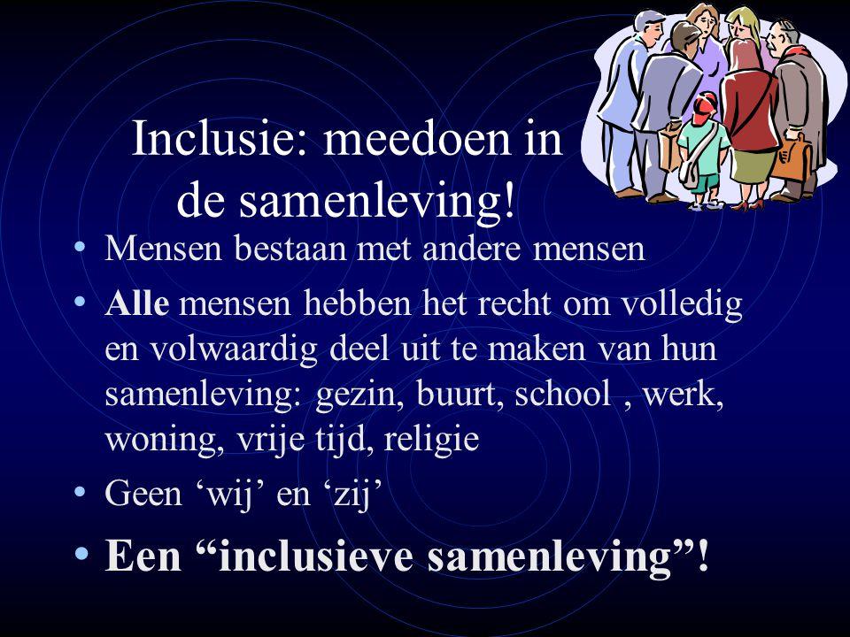 Inclusie: meedoen in de samenleving!