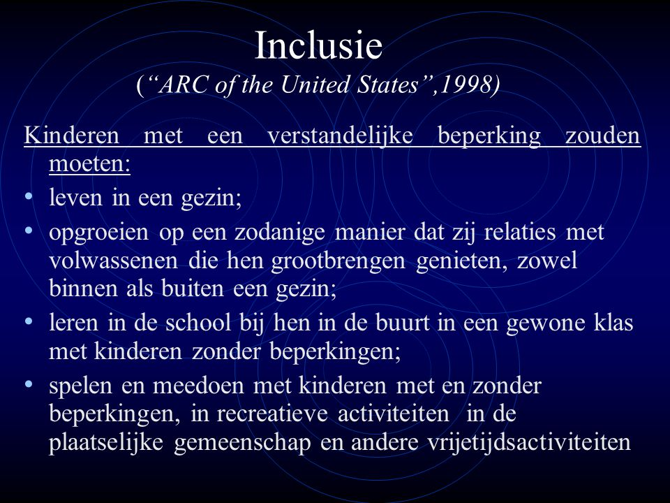 Inclusie ( ARC of the United States ,1998)
