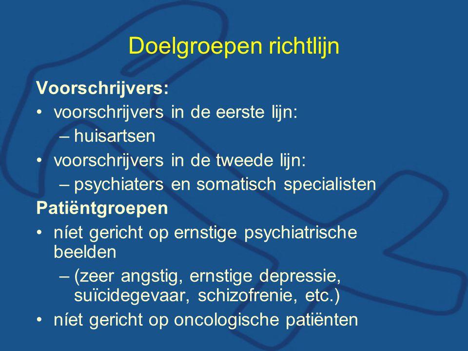 Doelgroepen richtlijn