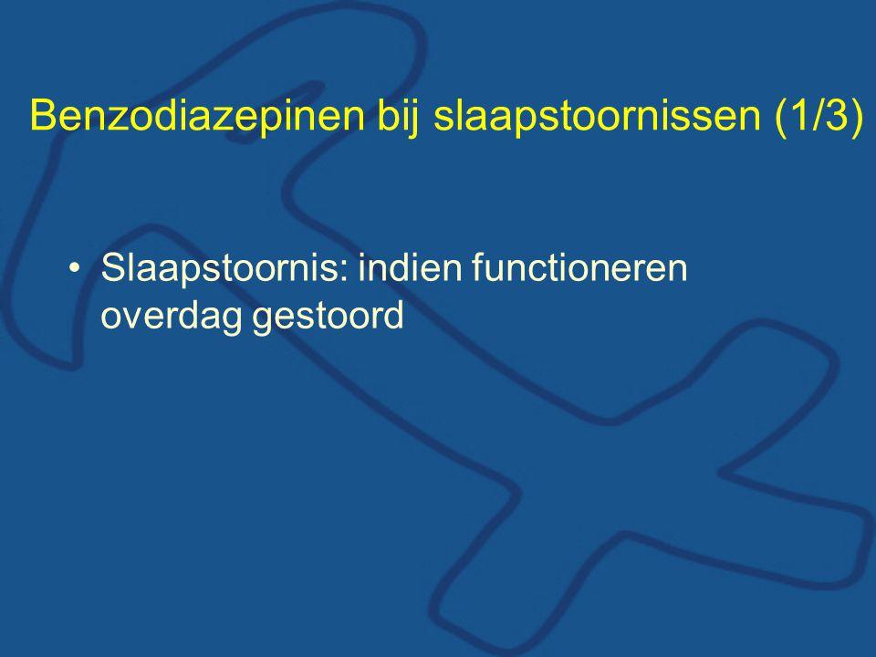 Benzodiazepinen bij slaapstoornissen (1/3)