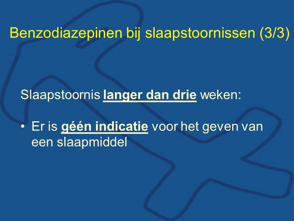 Benzodiazepinen bij slaapstoornissen (3/3)