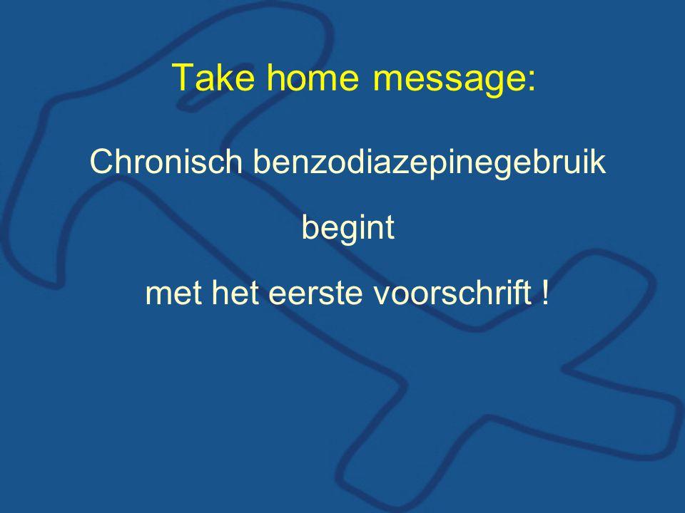 Take home message: Chronisch benzodiazepinegebruik begint