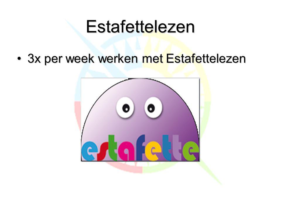 Estafettelezen 3x per week werken met Estafettelezen