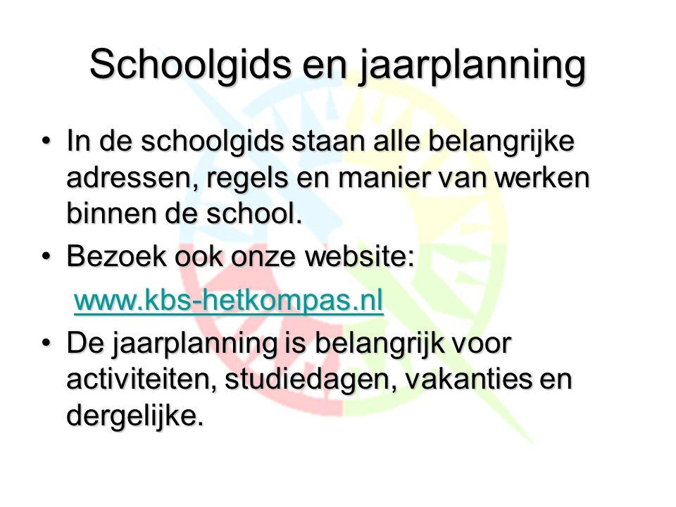 Schoolgids en jaarplanning