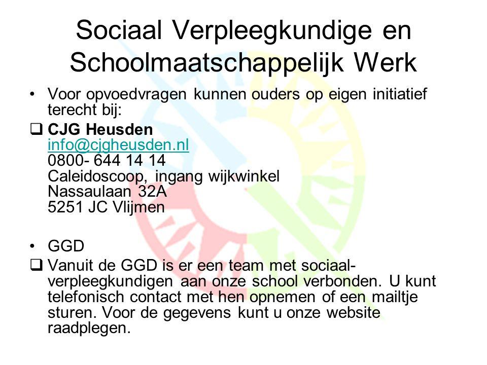 Sociaal Verpleegkundige en Schoolmaatschappelijk Werk
