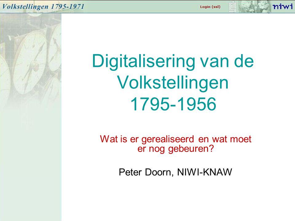 Digitalisering van de Volkstellingen 1795-1956