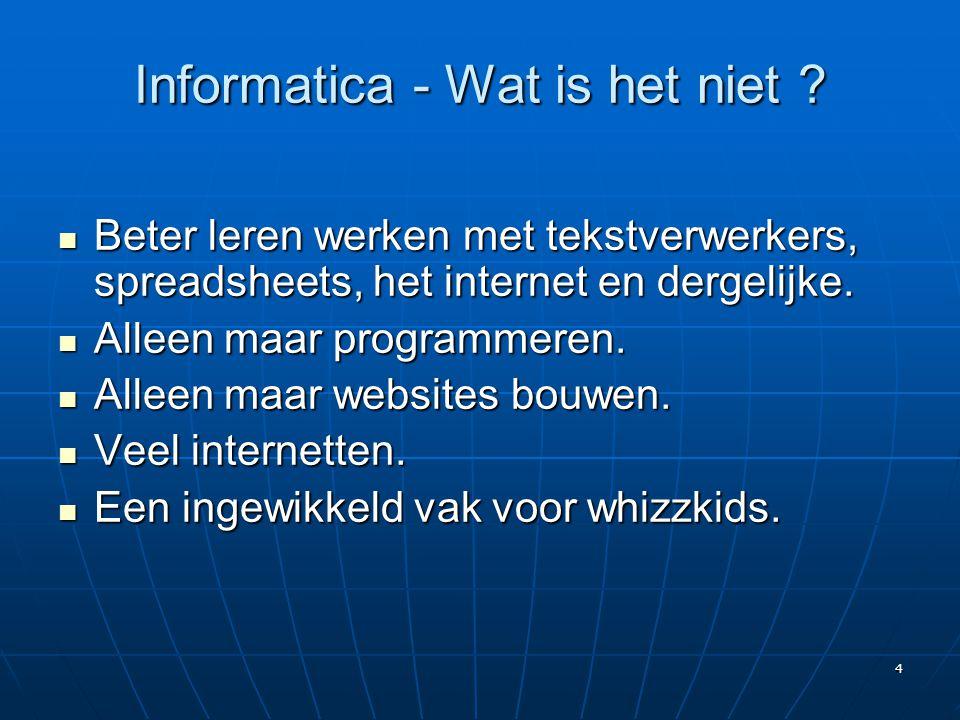 Informatica - Wat is het niet