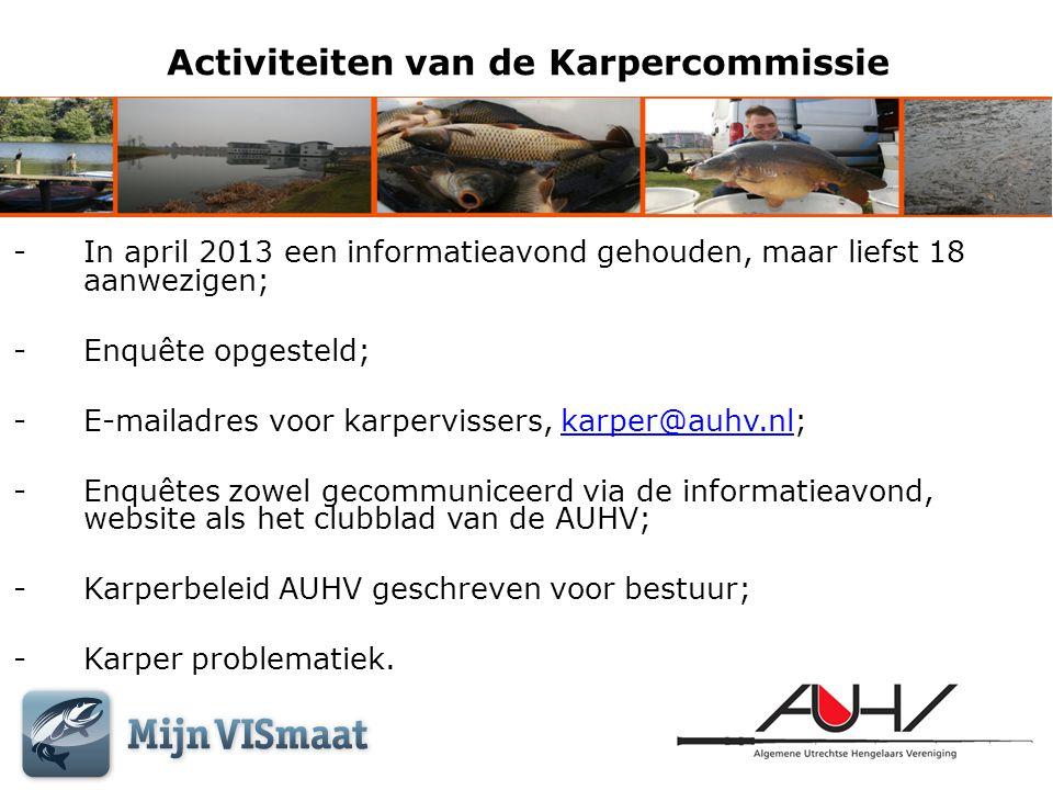 Activiteiten van de Karpercommissie
