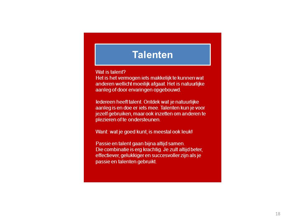 Talenten Wat is talent