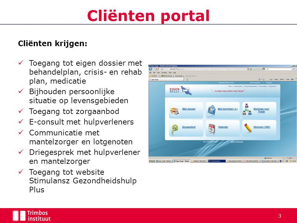 Cliënten portal Cliënten krijgen: