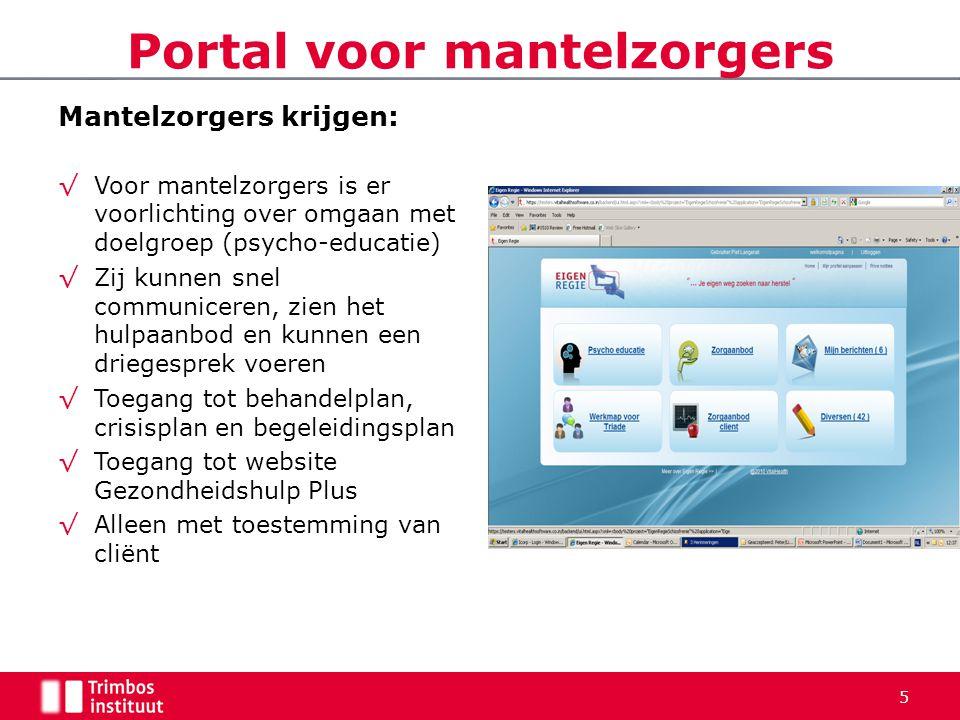 Portal voor mantelzorgers
