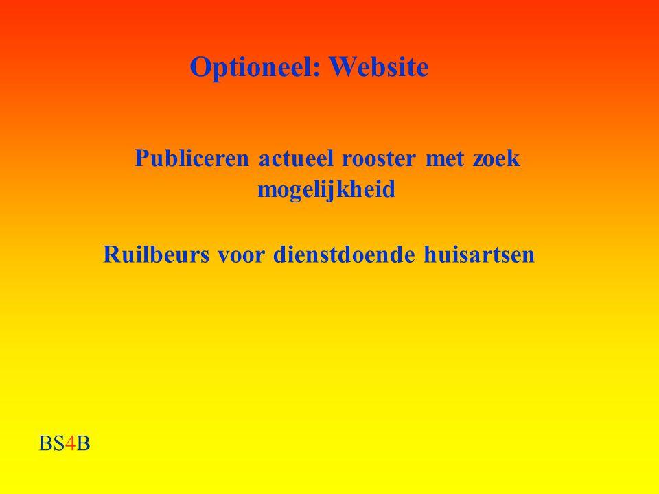 Optioneel: Website Publiceren actueel rooster met zoek mogelijkheid