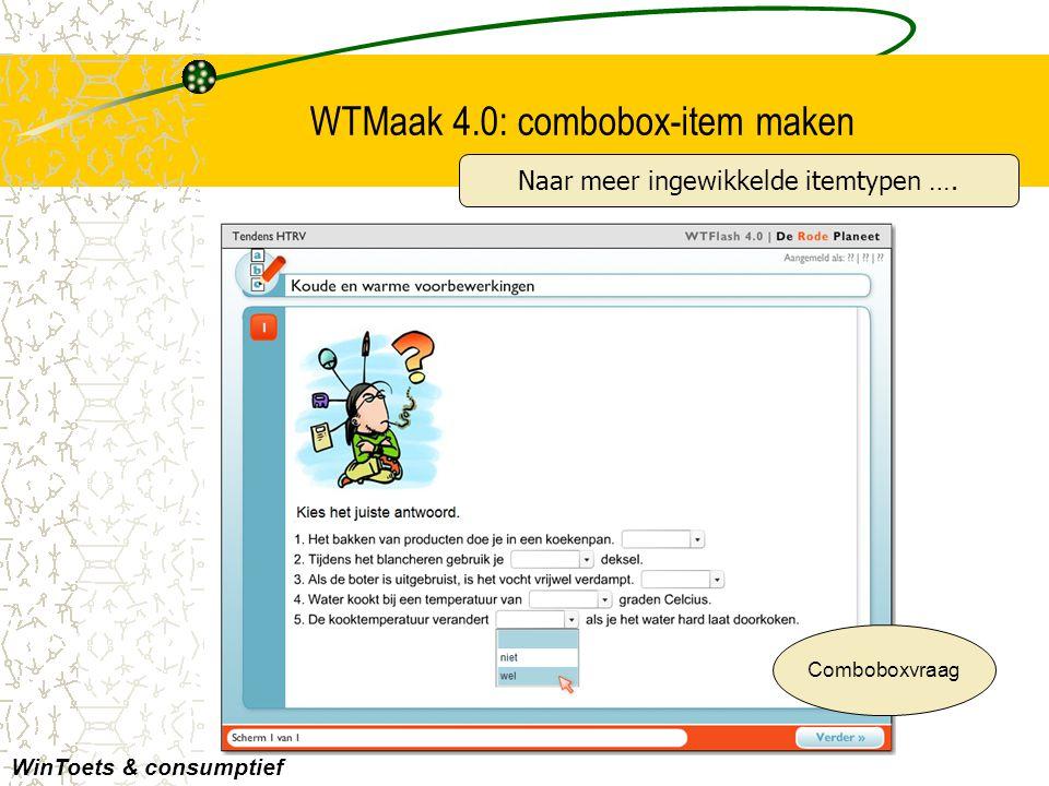 WTMaak 4.0: combobox-item maken