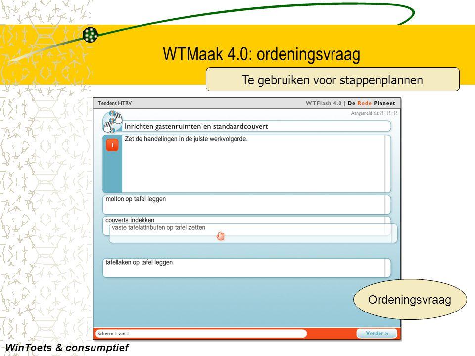 WTMaak 4.0: ordeningsvraag