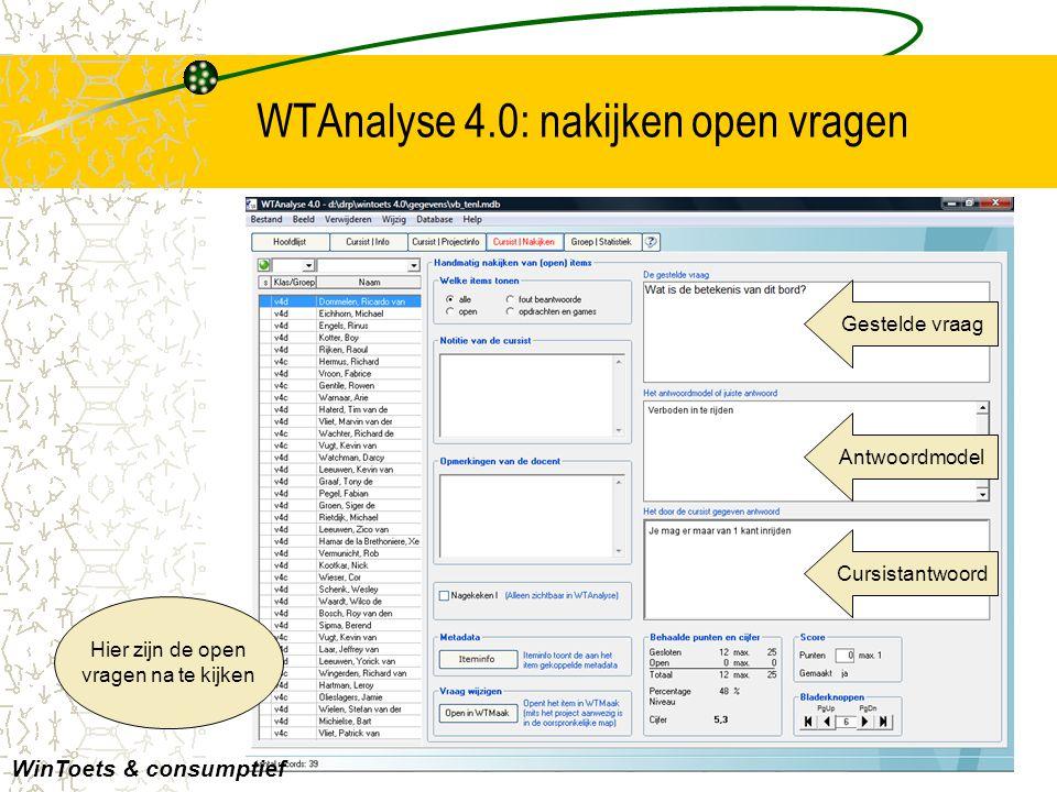 WTAnalyse 4.0: nakijken open vragen