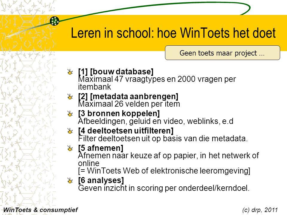 Leren in school: hoe WinToets het doet