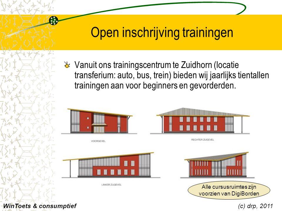 Open inschrijving trainingen