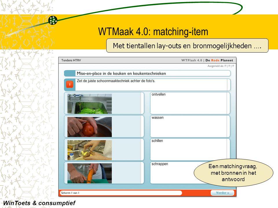 WTMaak 4.0: matching-item