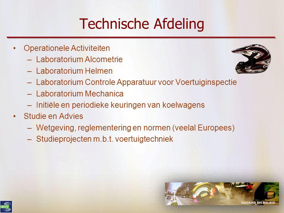 Technische Afdeling Operationele Activiteiten Laboratorium Alcometrie