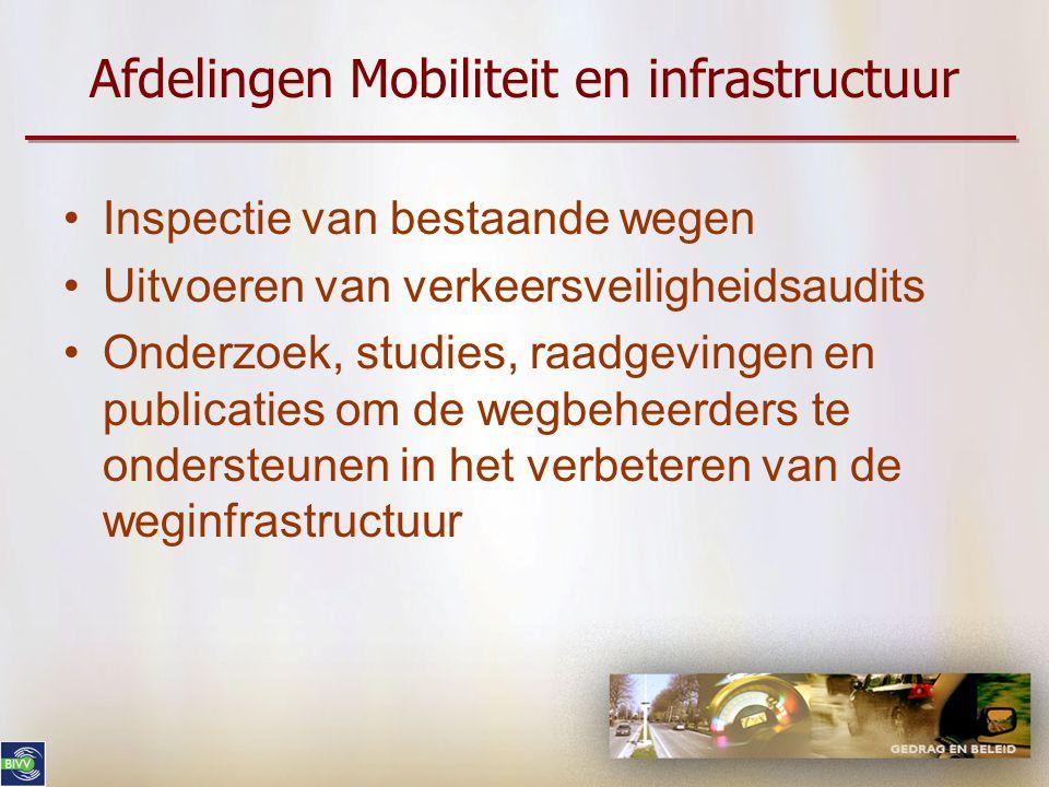 Afdelingen Mobiliteit en infrastructuur