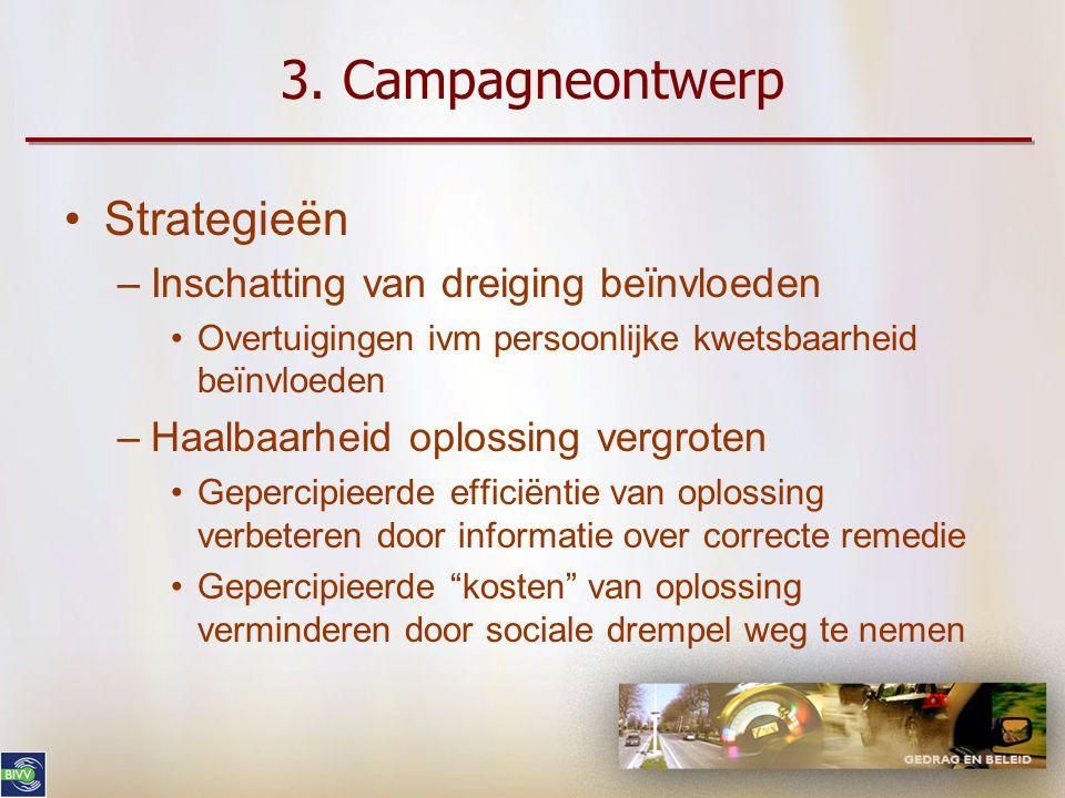 3. Campagneontwerp Strategieën Inschatting van dreiging beïnvloeden