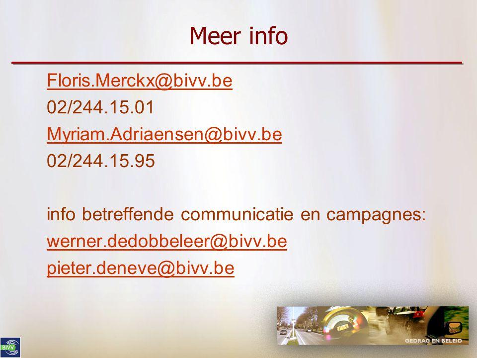 Meer info Floris.Merckx@bivv.be 02/244.15.01 Myriam.Adriaensen@bivv.be