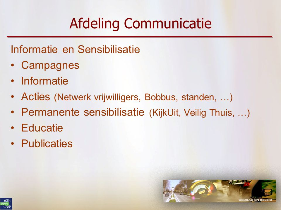 Afdeling Communicatie