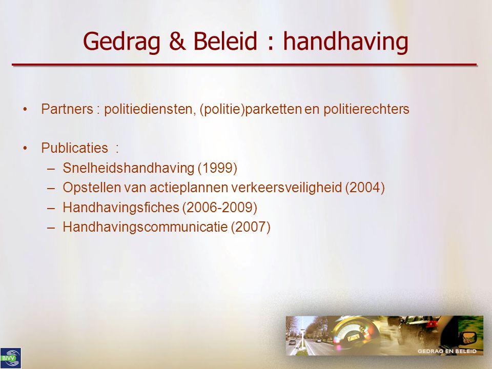 Gedrag & Beleid : handhaving