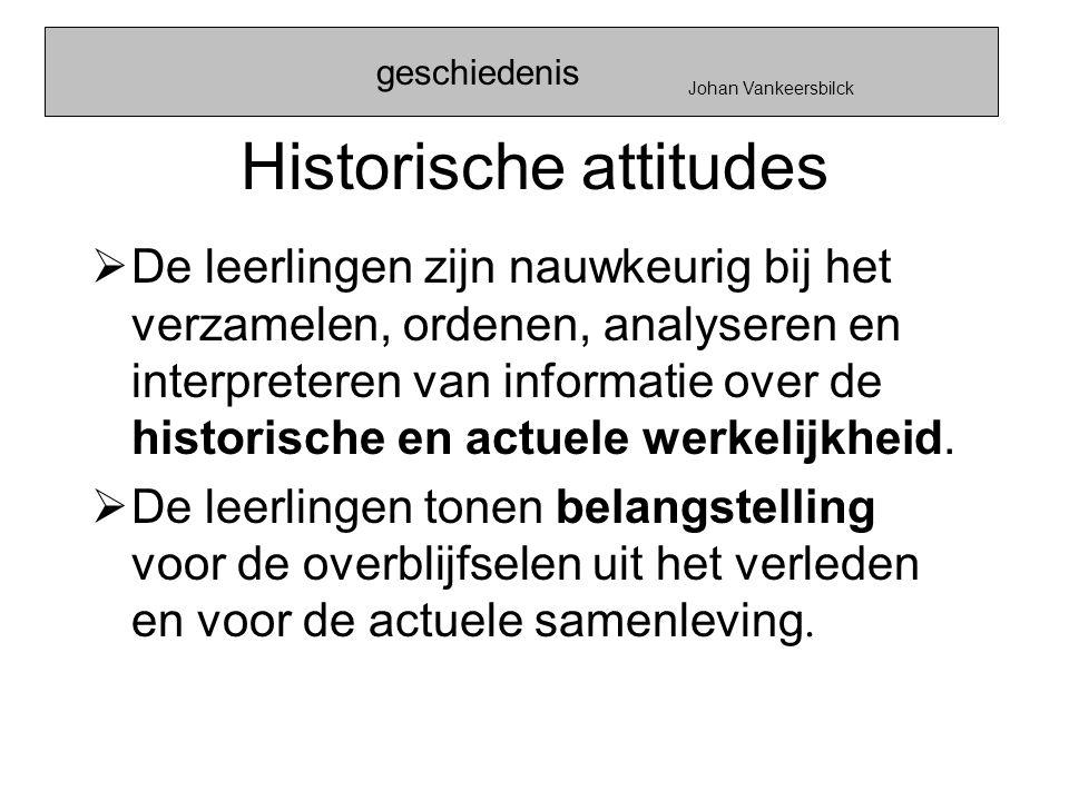 Historische attitudes
