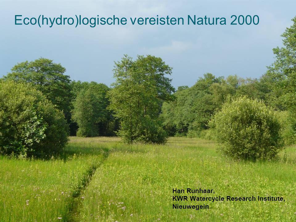 Eco(hydro)logische vereisten Natura 2000