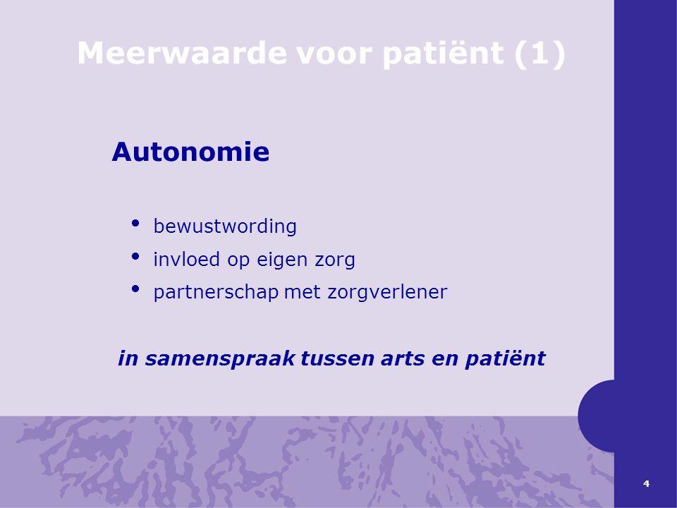 Meerwaarde voor patiënt (1)
