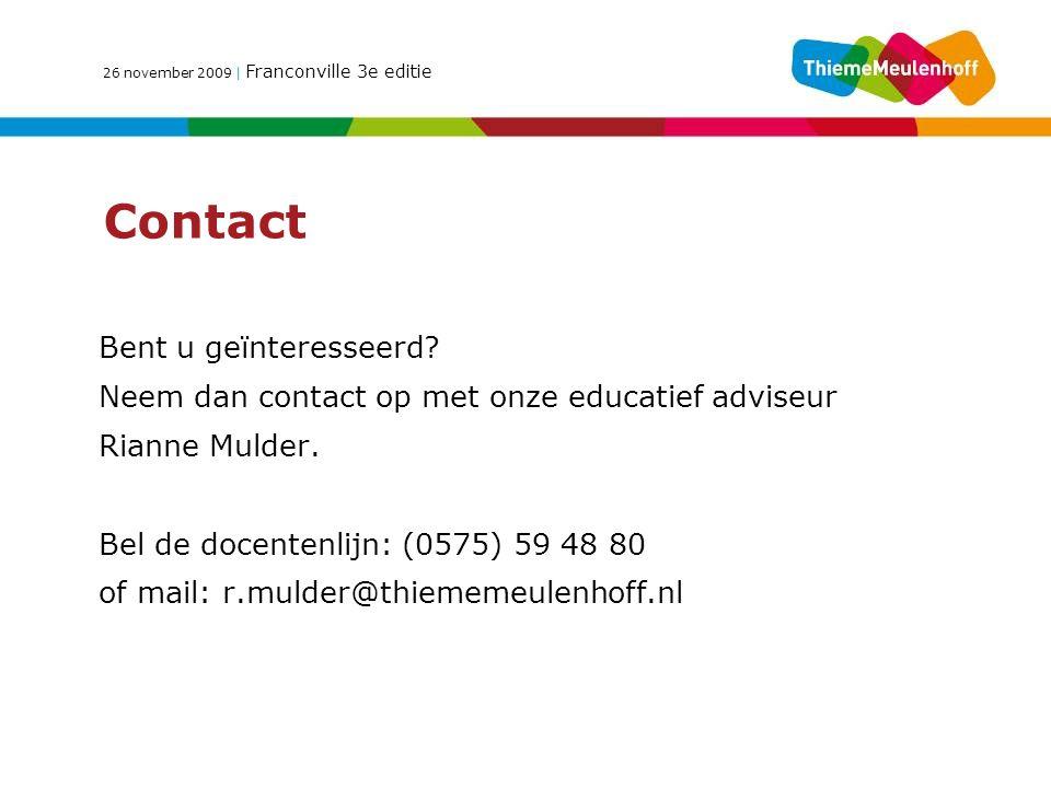 Contact Bent u geïnteresseerd